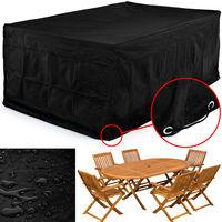 Deuba Kingsleeve Abdeckung Sitzgruppe 242x162x100cm | Wetterfest Schutzhülle 420 D Oxford | Tisch Stuhl Gartenmöbel Plane