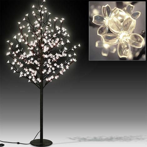 Deuba Kirschblütenbaum LED 220cm 220 LEDs für Innen und Außen warmweiß Weihnachten Beleuchtung