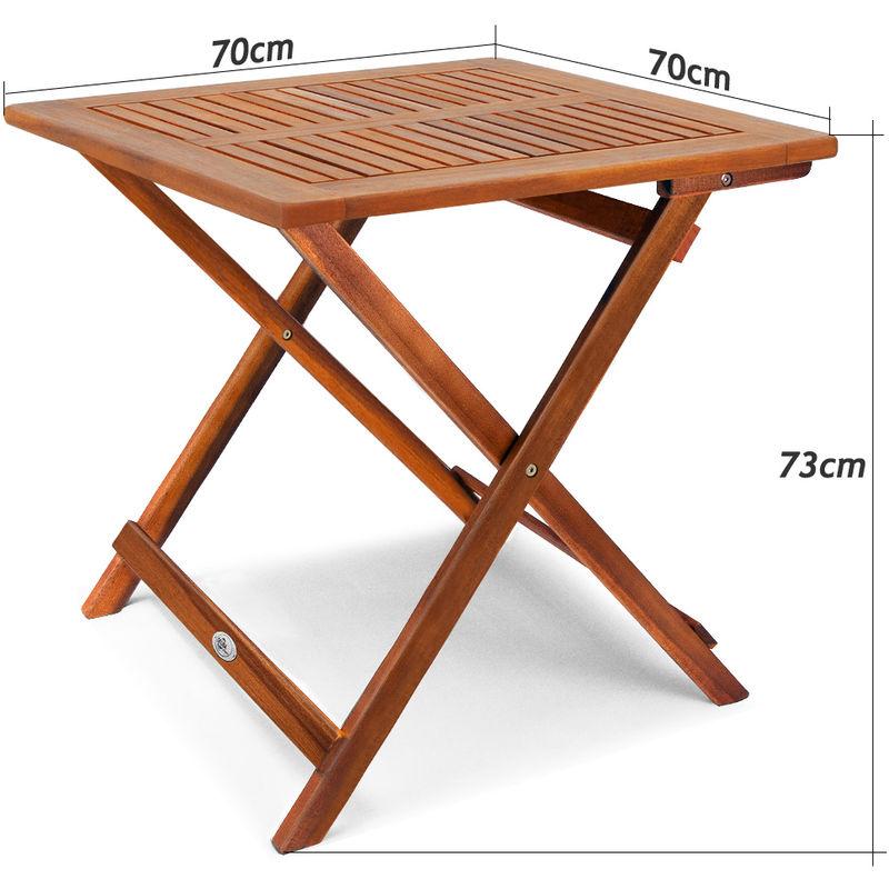 Holztisch Gartentisch.Deuba Klapptisch Akazie Beistelltisch Holztisch Gartentisch Campingtisch 70x70x73cm