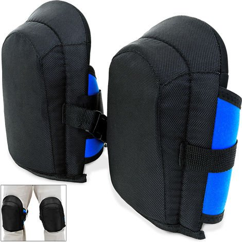 DEUBA Knee pads | 2 pieces in one size | elastic | continuously adjustable fabric straps - pair of gel knee pads Knee protection