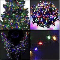 Deuba® LED Lichterkette 700 LEDs Leuchtkette Weihnachten Innen Außen Beleuchtung 14m Fernbedienung 8 Programme mehrfarbig wasserfest