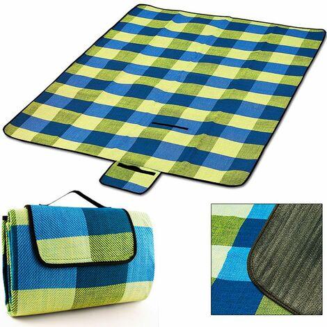 "main image of ""Deuba Manta Picnic impermeable 200 x 200cm para camping playa jardín plegable ligero alfombras"""