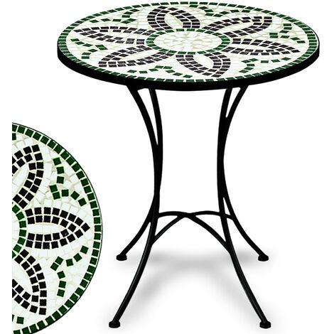 """main image of """"Deuba Mesa de Mosaico Flora Ø60cm redonda con azulejos altura 70cm muebles de jardín terraza balcón interior y exterior"""""""
