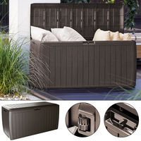 Deuba Outdoor Plastic Storage Box Large 290L Garden Cushion Box Container Shed Colour Choice