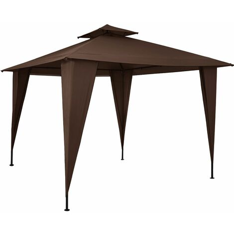 Deuba Pabellón cenador Sairee para fiestas eventos jardín 3,5x3,5m Camping protección UV 50+ con techo impermeable patio
