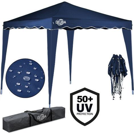 Deuba Pabellon de Jardin cenador Capri Azul 3x3 m Carpa Plegable de jardín Impermeable y Pop Up para Eventos Camping