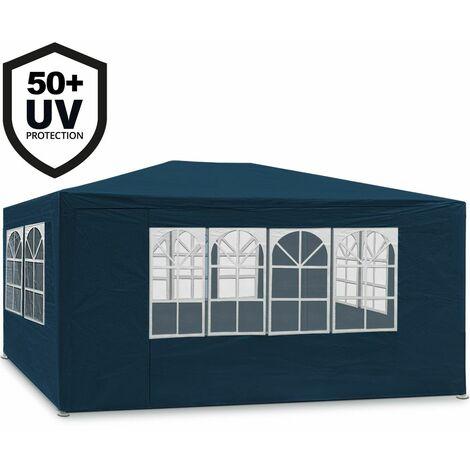 """Deuba Pabellón """"Maui"""" color a elegir cenador enrollable con ventana 12 m² carpa plegable con protección UV 50 - eventos jardín"""