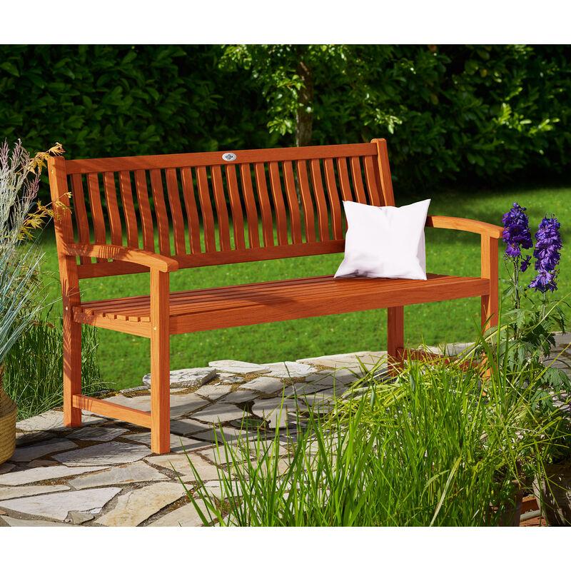 Panca da giardino Maxima per 3 persone in legno di eucalipto certificato FSC® per interni ed esterni - Deuba