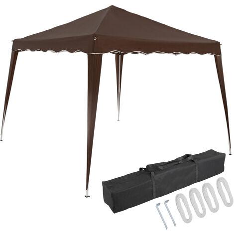 Deuba Pavillon Capri 3x3m wasserdicht Pop-Up inkl. Tasche UV-Schutz 50+ Faltpavillon Gartenzelt Partyzelt