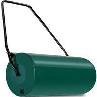 Deuba Rasenwalze | 60cm | 48l Füllvolumen | intg. Schmutzabweiser | Metall - Handwalze Rasenroller Gartenwalze Walze Ackerwalze