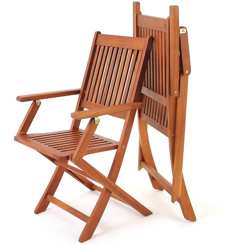 Deuba Set de 2 sillas Sydney Plegables de Madera de Acacia