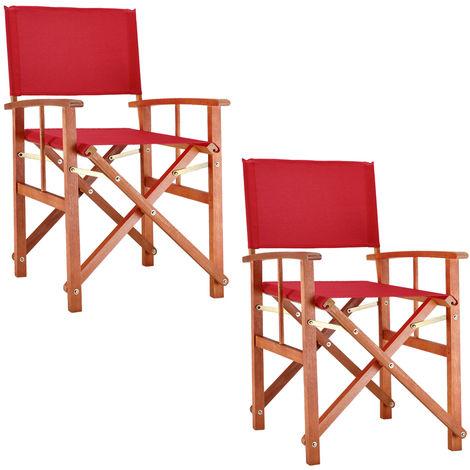 2x Cojines de silla plegable silla del brazo Cojines Muebles de jardín Silla Cojines