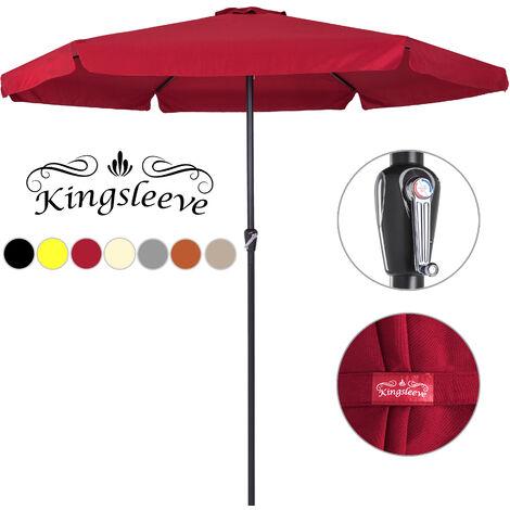 Deuba Sombrilla XXL 330 cm con manivela impermeable playa pícnic verano protección - color a elegir