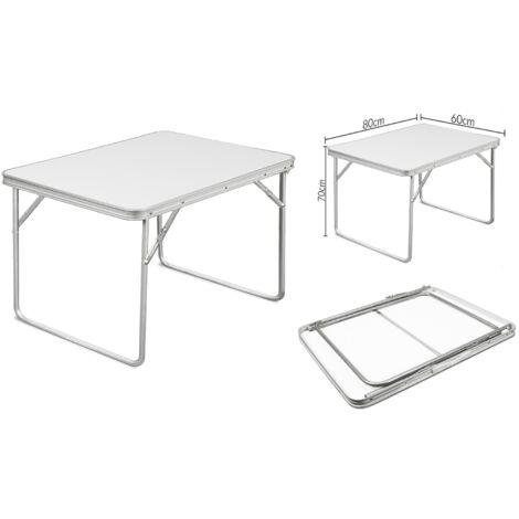Deuba Table de camping pliante 80 x 60 x 70 cm