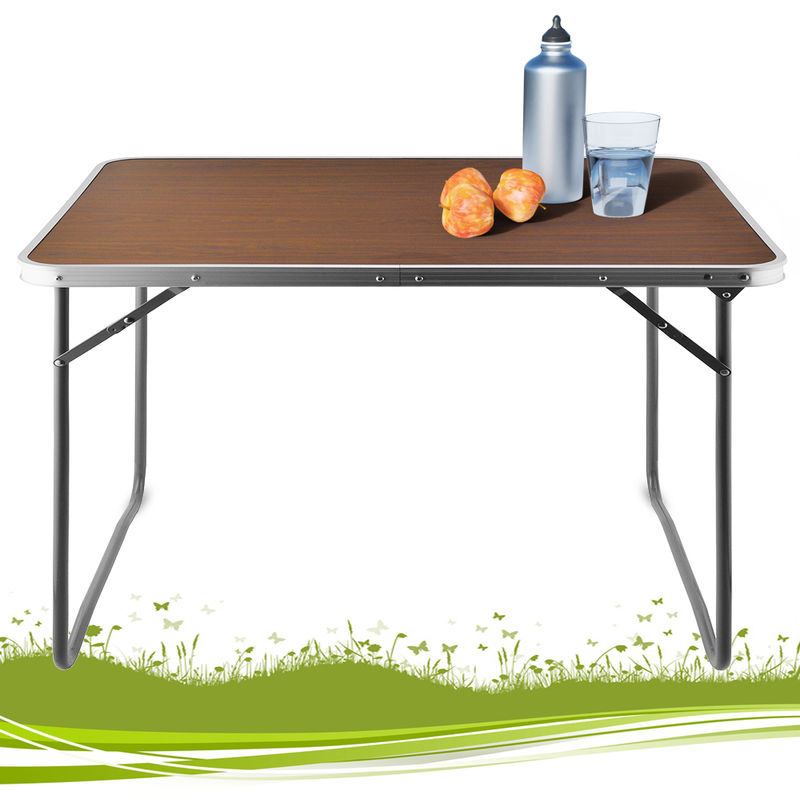 Tavoli Da Campeggio Pieghevoli In Legno.Deuba Tavolo Da Campeggio Pieghevole Colore Legno 80x60x70cm