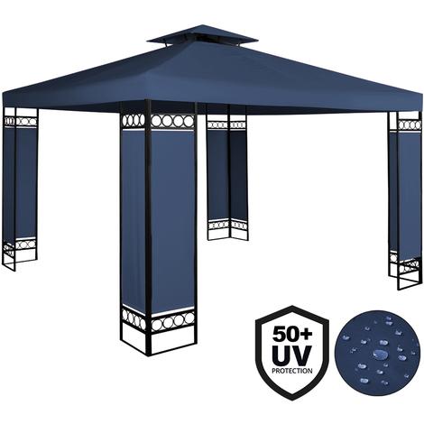 Deuba - Tonnelle de jardin 3x3m Lorca • Bleue - 3x3m • Protection UV 50+ • Toile hydrofuge • Barnum de jardin - terrasse