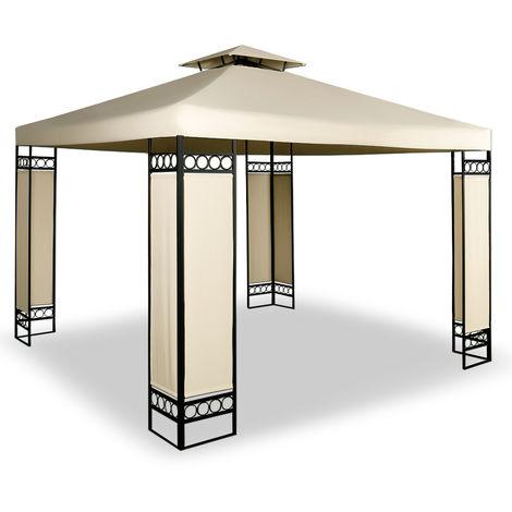 Deuba - Tonnelle de jardin 3x3m Lorca • Crème - 3x3m • Protection UV 50+ • Toile hydrofuge • Barnum de jardin - terrasse