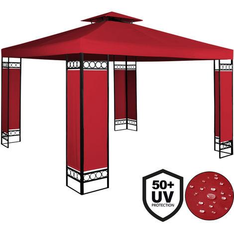 Deuba - Tonnelle de jardin 3x3m Lorca • Rouge - 3x3m • Protection UV 50+ • Toile hydrofuge • Barnum de jardin - terrasse