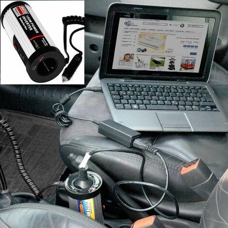 Deuba | Transformador de Tensión | Convertidor | Inversor de Corriente | Coche Automóvil | 150/300 W | 12 V-230 V | USB 5 V