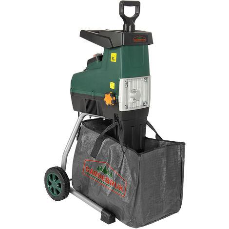 """Deuba Trituradora silenciosa de 2800W con bolsa sistema de """"empuje autómatico"""" protección peso17 kg madera ramas jardín"""