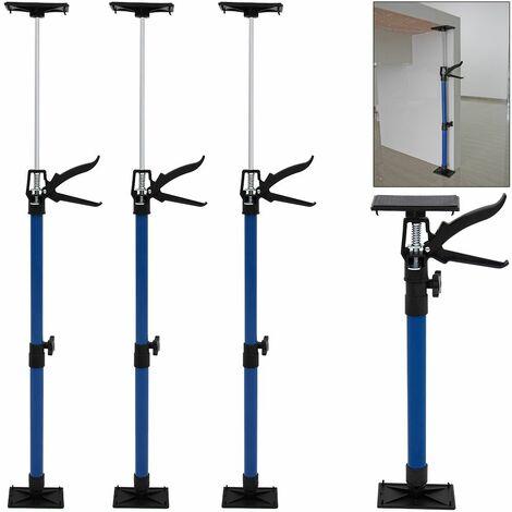 Deuba Türspanner im 3er Set   50-115cm   Teleskopstange, Türspreizer, Türfutterstrebe, Türmontagehilfe, Türzarge   Druckplatte mit Kugelgelenk bis zu 45 Grad