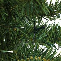 Deuba Weihnachtsgirlande Tannengirlande Tannenzweiggirlande Weihnachtsdeko Weihnachts Girlande 5 m 100 LED's Indoor & Outdoor grün warmweißes Licht