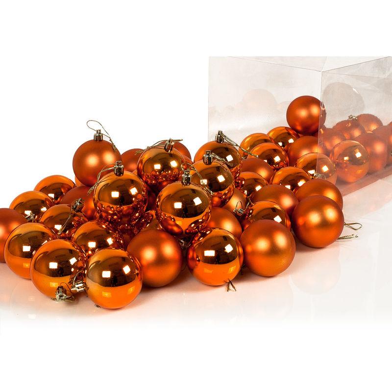 Weihnachtskugeln Kupfer.Deuba Weihnachtskugeln Kupfer 54 Christbaumschmuck Aufhänger Christbaumkugeln Für Den Weihnachtsbaum Weihnachtsbaumschmuck