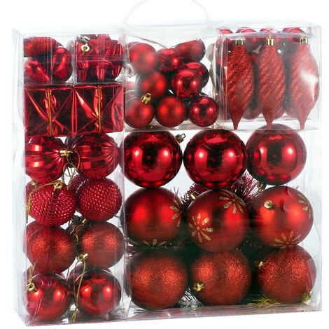 Aufhänger Für Christbaumkugeln.Deuba Weihnachtskugeln Rot 103 Christbaumschmuck Aufhänger Christbaumkugeln Für Den Weihnachtsbaum Weihnachtsbaumschmuck Weihnachtsbaumkugeln