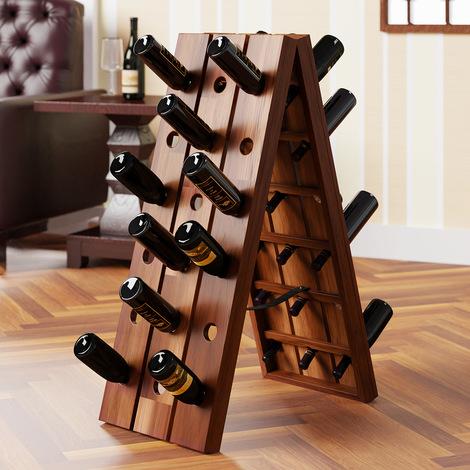 Weinregal Weinständer Flaschenregal Weinschrank für 21 Flaschen Metall Design DE