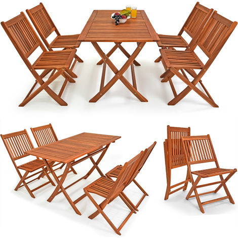 Deuba Wooden Garden Furniture Dining Set Sydney Light FSC®-Certified Acacia Wood 4 Seater