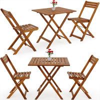 Deuba Wooden Table Chairs Set Garden Furniture Balcony Outdoor Patio 2 Seater