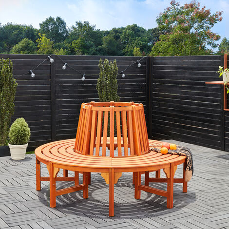 "main image of ""Deuba Wooden Tree Bench FSC®-Certified Eucalyptus Wood Round Garden Seat 190 cm"""
