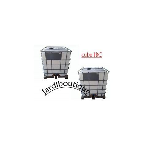 Deux Cuves IBC 1000L pour réserve d'eau (pas de livraison en corse ou ile)