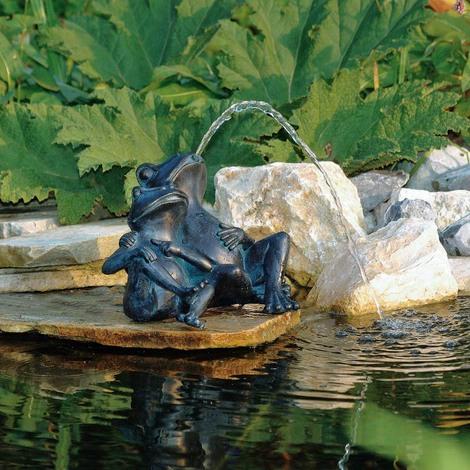 Deux Grenouilles pour Décoration de Bassin de Jardin - 1386074