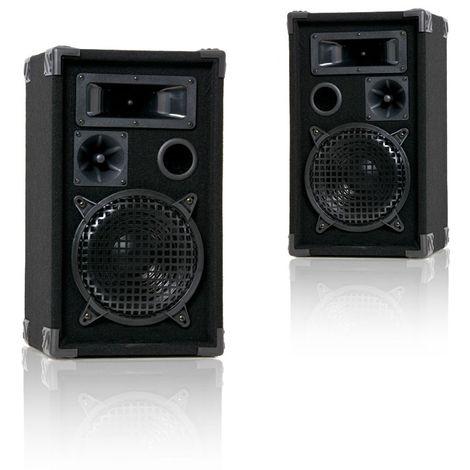 Deux haut-parleurs 600 watts enceintes boîtier bois feutre PA Liston musique