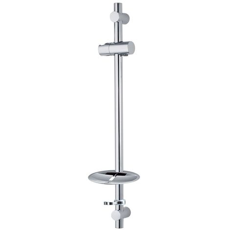 Deva Adjustable Riser Rail with Adjustable Bracket - Chrome