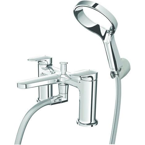 Deva Aio Deck Mounted Bath Shower Mixer Tap Deck Mounted - Chrome