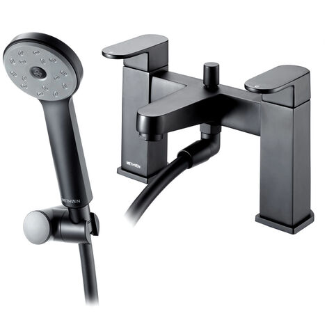 Deva Amio Bath Shower Mixer Tap Deck Mounted - Matte Black