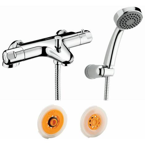 Deva Dynamic Thermostatic Bath Shower Mixer & Flow Regulator 8 Litres - Chrome