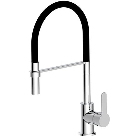Deva Ellesmere Flexi Pull-Out Kitchen Sink Mixer Tap - Chrome