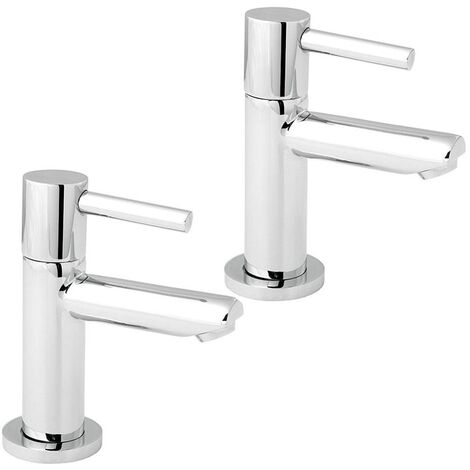 Deva Insignia Basin Taps Pair - Chrome
