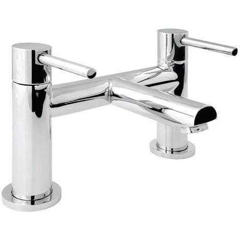 Deva Insignia Pillar Mounted Bath Filler Tap - Chrome