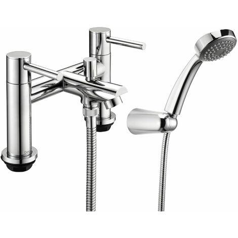 Deva Insignia Pillar Mounted Bath Shower Mixer Tap - Chrome