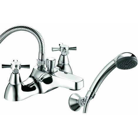 Deva Milan Deck Mounted Bath Shower Mixer Tap - Chrome