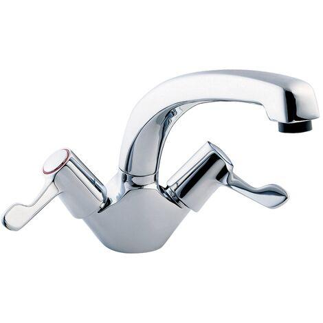 Deva Mono Kitchen Sink Mixer Tap, 3 Inch Lever Handle, Chrome