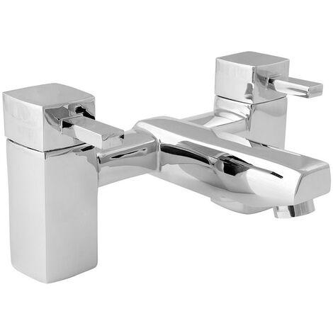Deva Rubic Pillar Mounted Bath Filler Tap - Chrome
