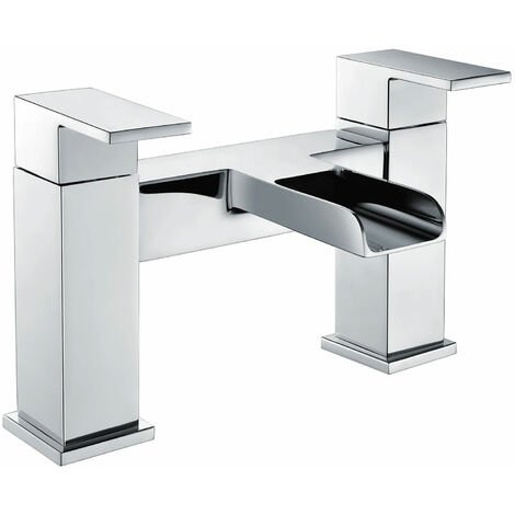 Deva Sparkle MK2 Deck Mounted Waterfall Bath Filler Tap Dual Handle - Chrome