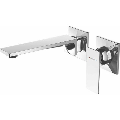 Deva Surface Single Lever Basin Mixer Tap Wall Mounted - Chrome