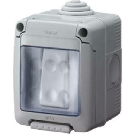 Deviatore con scatola per esterno 1 posto 16a ip55 gw27833