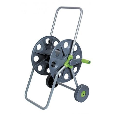 Dévidoir à tuyau d'arrosage vide sur roues - Gris